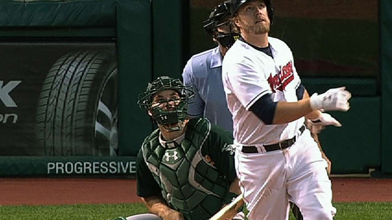 Indians drill four homers to take opener from A's