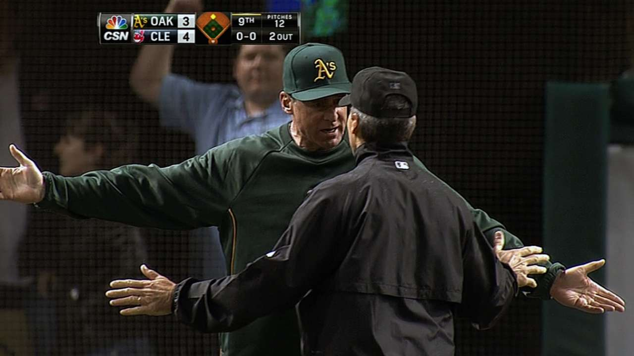 MLB: A's-Indians replay ruling to stand