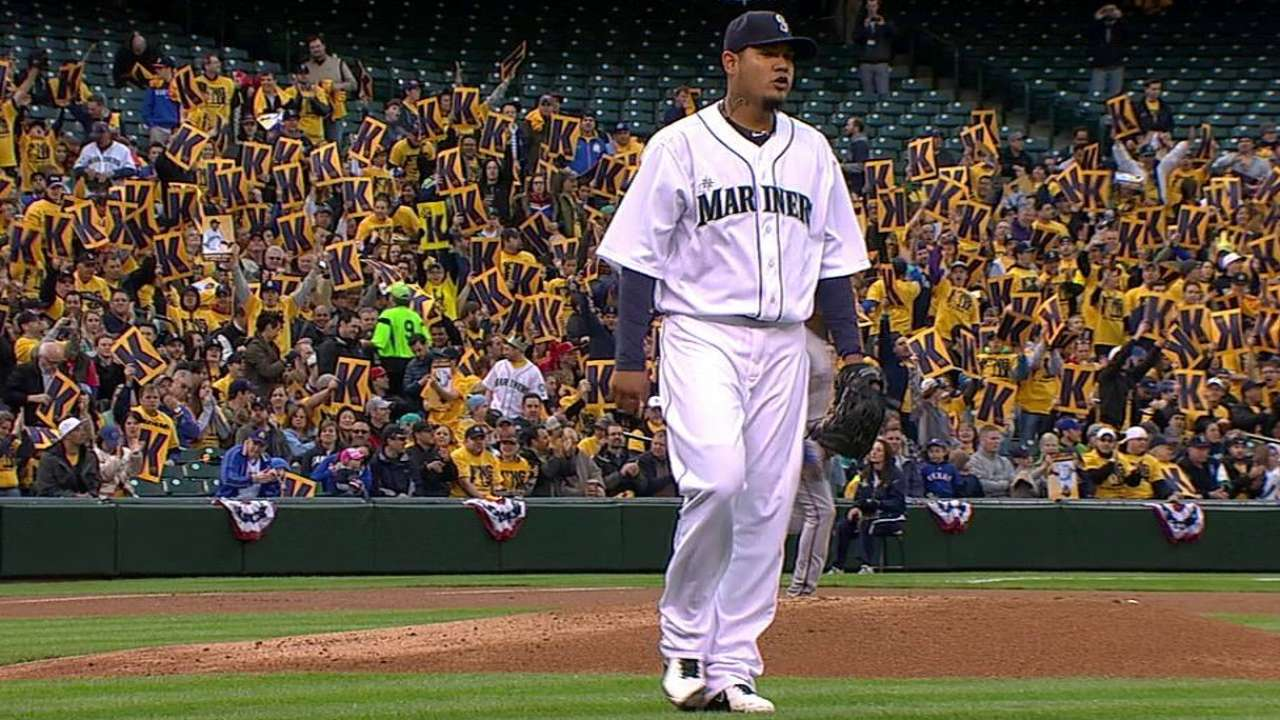 Felix gets 1,500th strikeout, but not 100th win