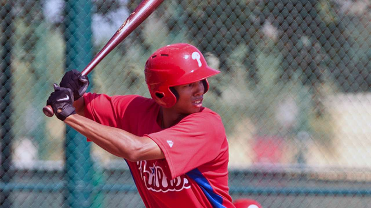 Prospect Altherr offers speed, power to Phillies
