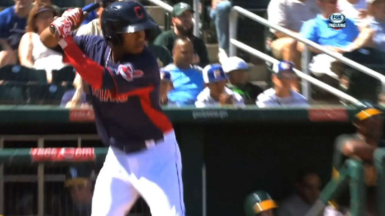 Lindor enjoying his ride to the big leagues