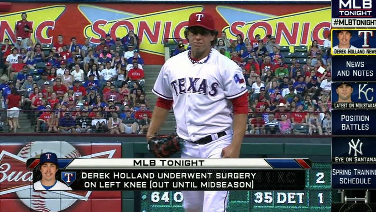 Hot Stove roundup: Rangers to start without Holland