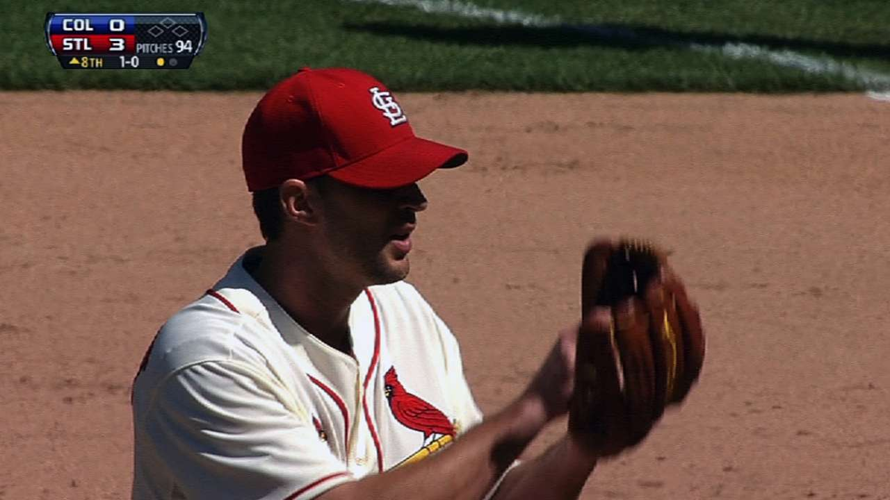 Cards pitchers tie mark by retiring 40 straight