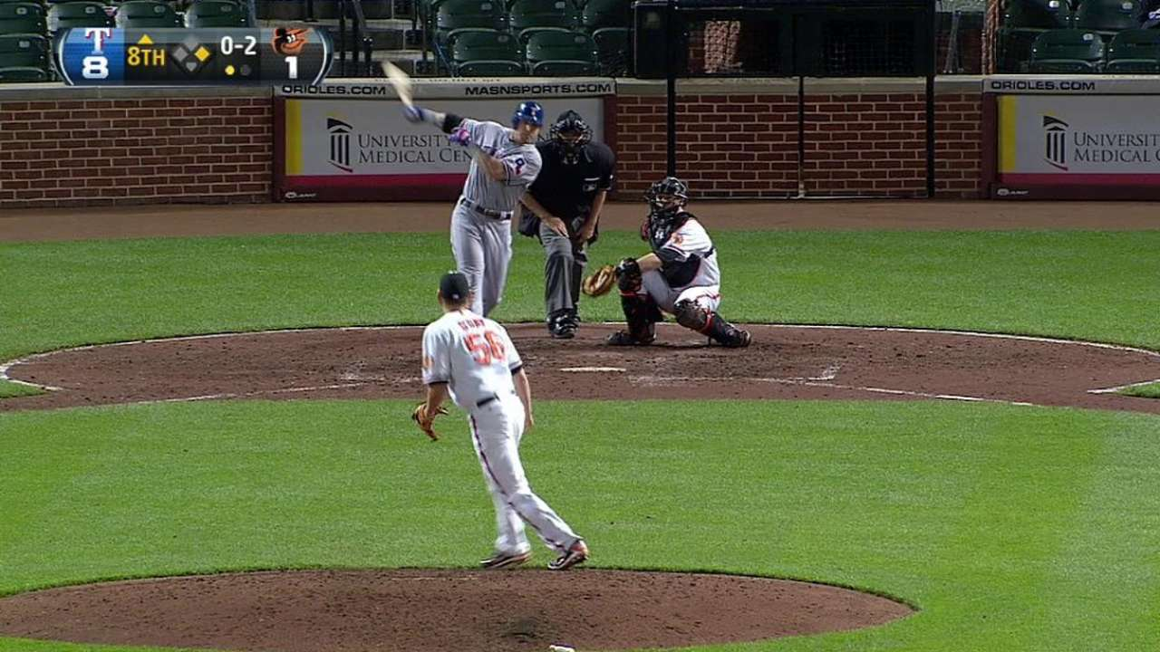 Hamilton's fourth home run