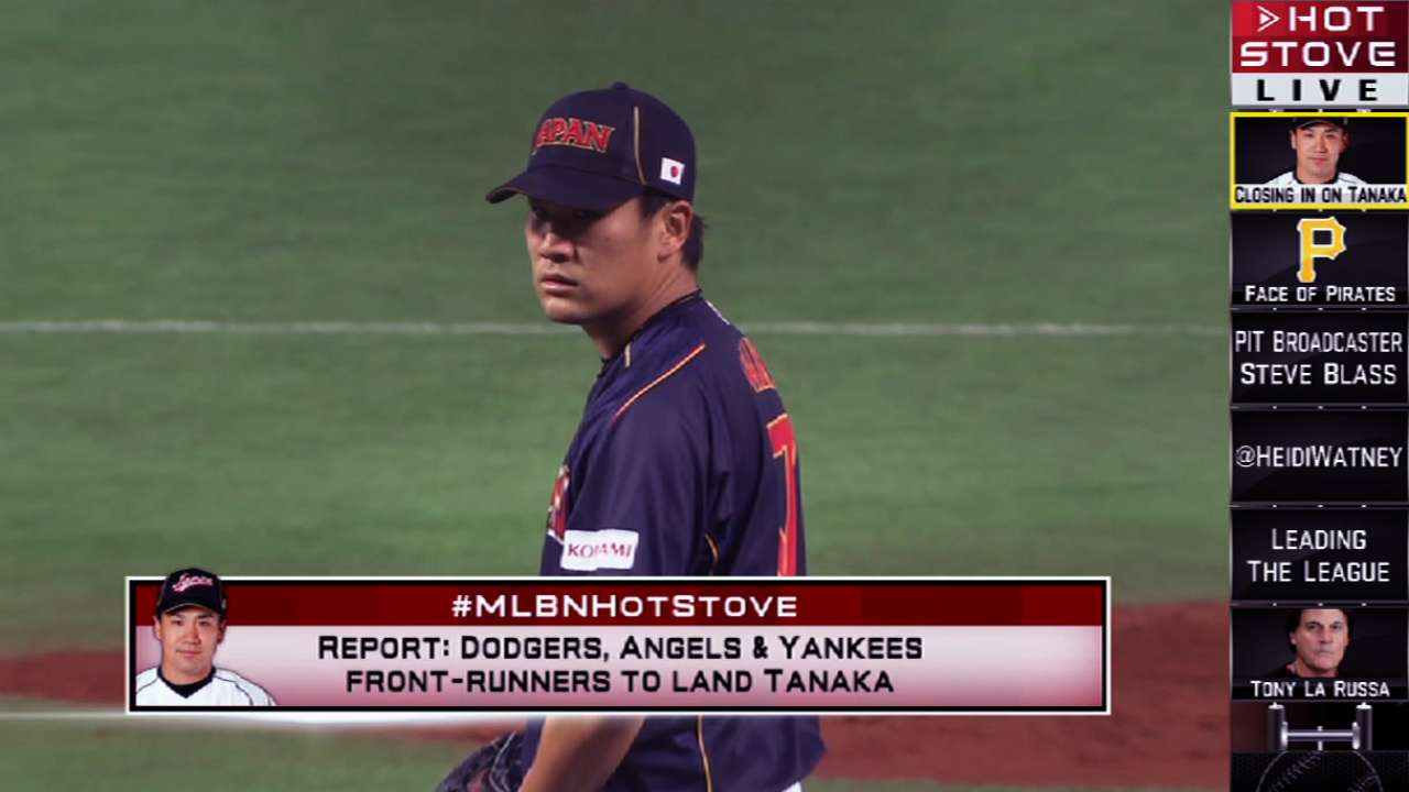 Angels said to be among Tanaka's favorites