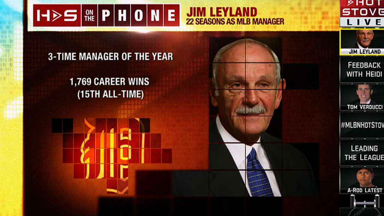 Tigers to honor Leyland on May 10