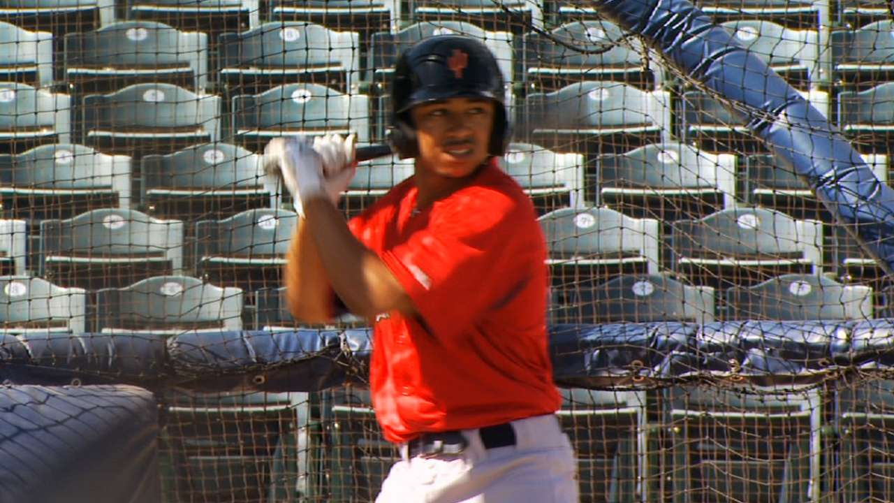 No slowing Sox prospect Betts at Double-A