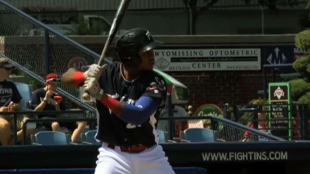 Top prospect Franco hits first Triple-A homer