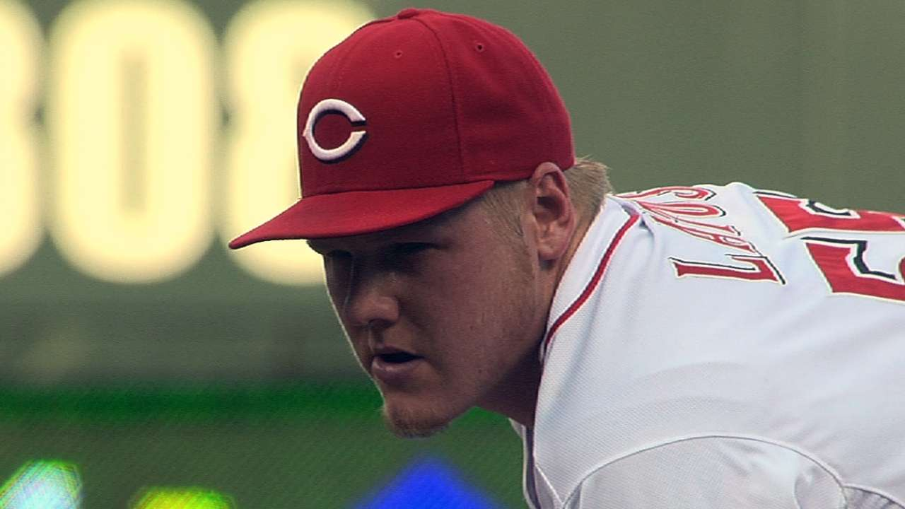 Louisville scratches Latos from rehab start