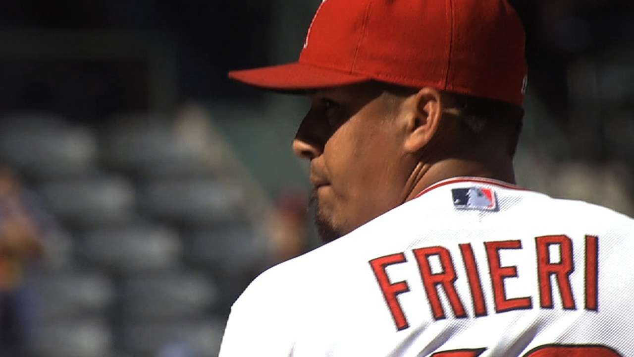 Frieri climbs back in saddle against D-backs