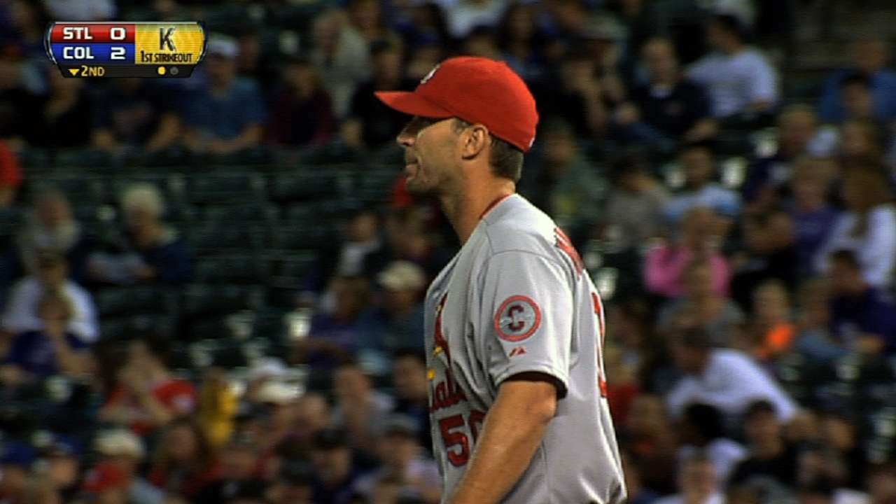 Cards ace Wainwright works on breaking ball