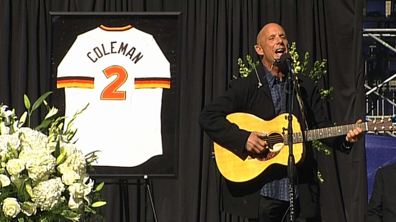 Padres honor, remember Coleman at Petco Park service
