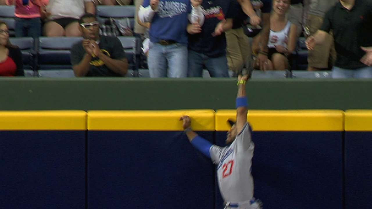 Kemp's great catch earns tip of cap from Heyward