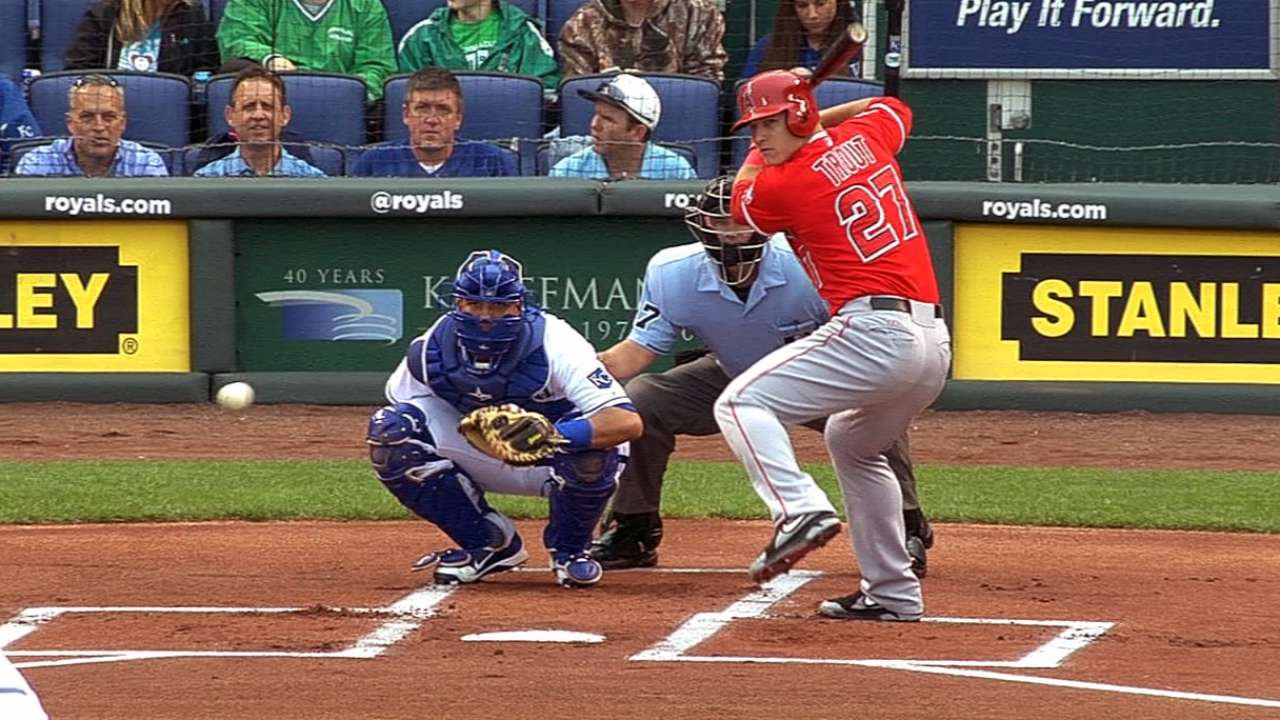 Trout showcases power, speed against KC