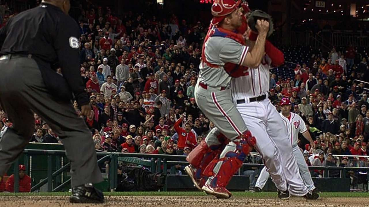 Kratz: 'No ill effects' from collision at plate