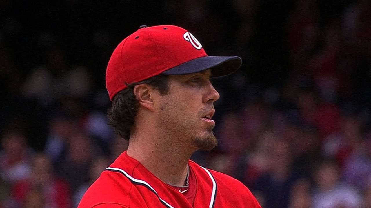 Haren happy to get work in vs. big leaguers