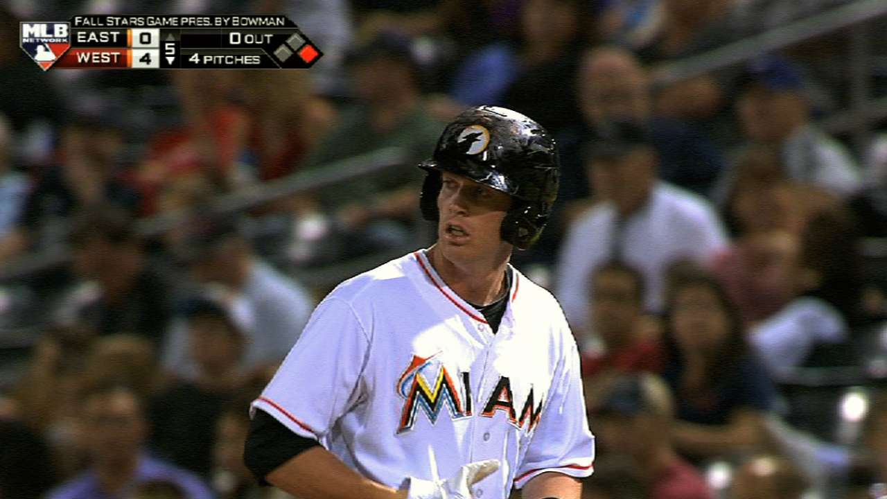 Marlins prospect Moran to miss three weeks