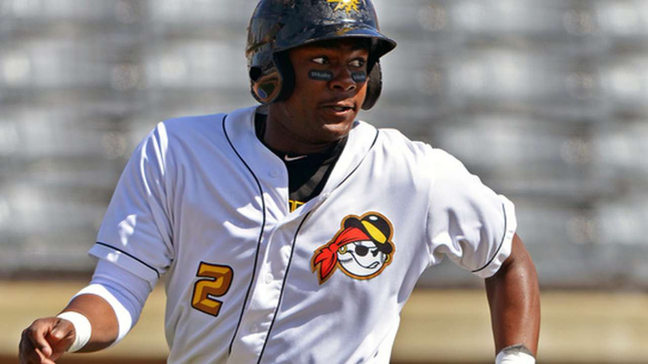 Prospect Bell collects five hits in doubleheader