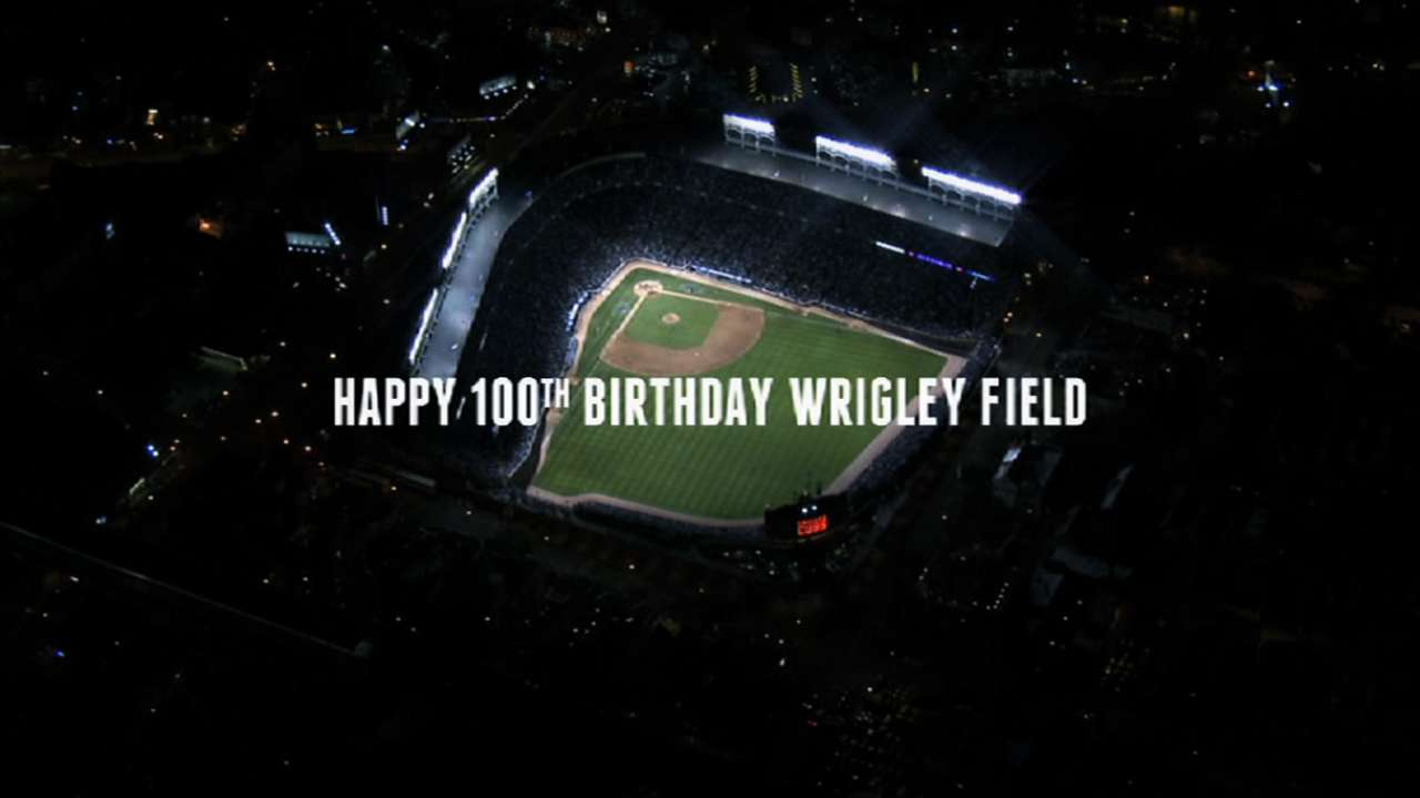 Cubs turn back clock on menu for Wrigley's centennial