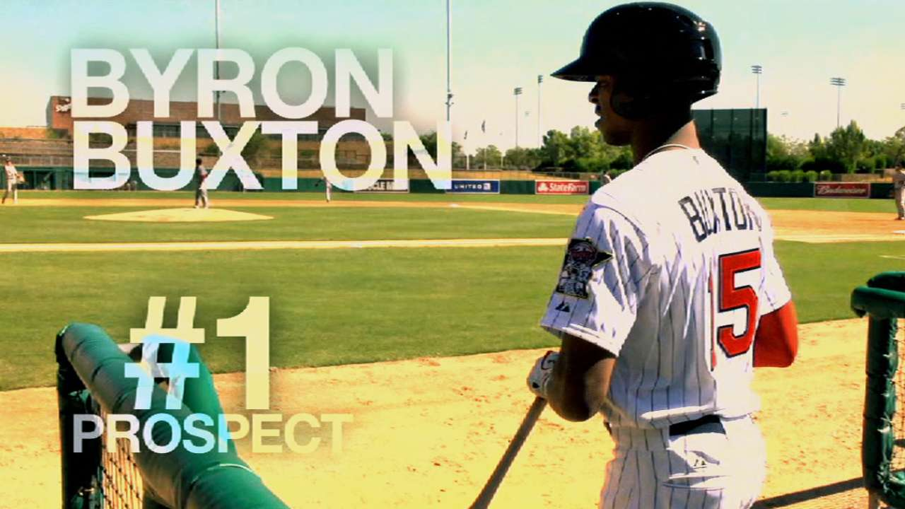 Twins' top prospect Buxton busts out with three hits