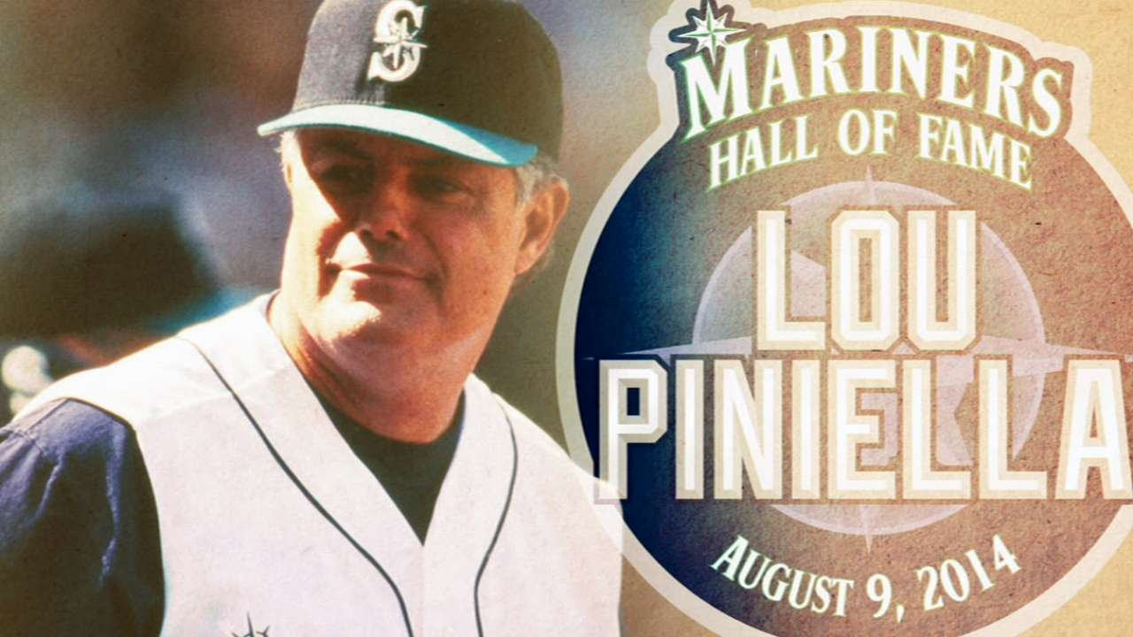 Piniella to enter Mariners' Hall of Fame