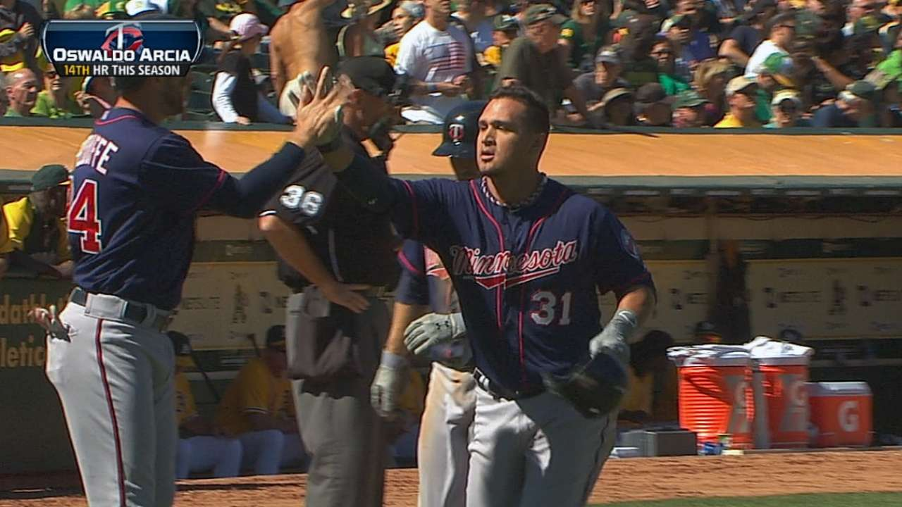 Twins hoping to have Arcia, Hicks on field soon