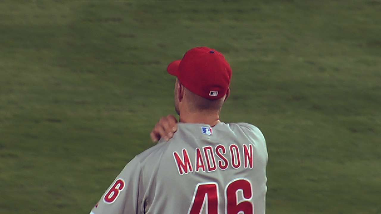 Brewers monitor Madson's comeback attempt