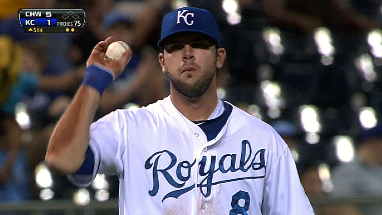Moustakas' second homer impresses Yost