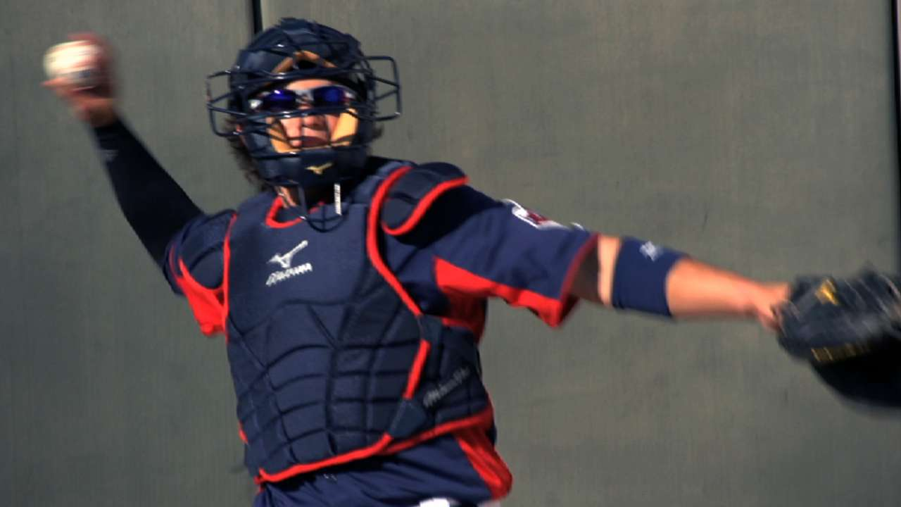 Tribe prospect Wolters' catching craft evolving