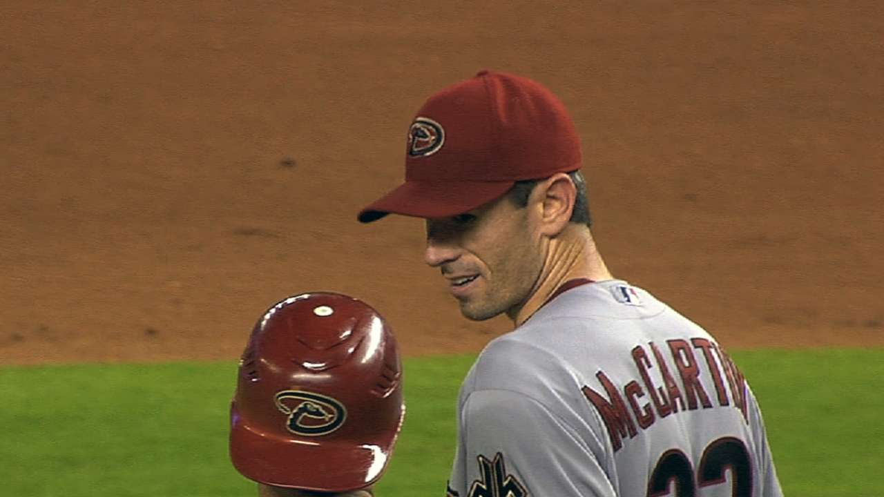 McCarthy to start D-backs' spring opener