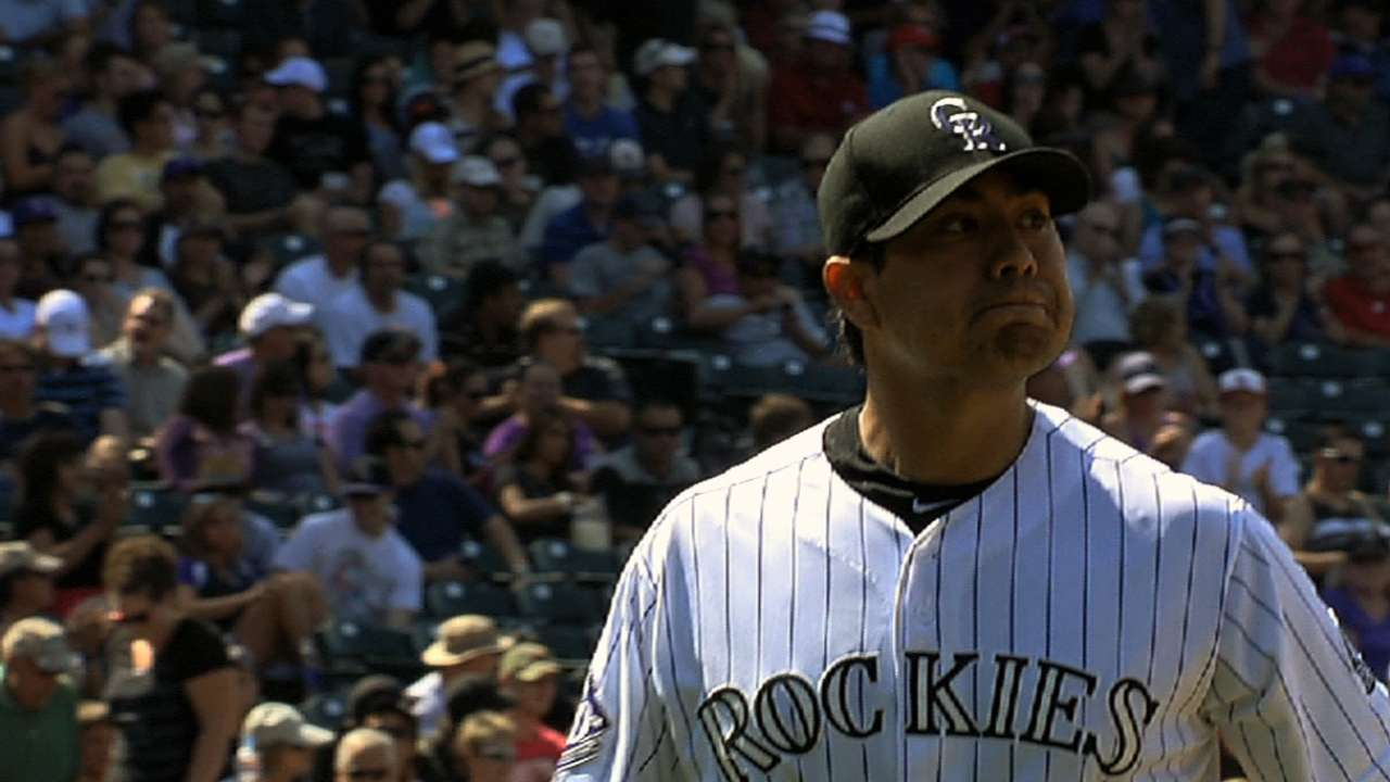 Rockies reward De La Rosa with Opening Day start
