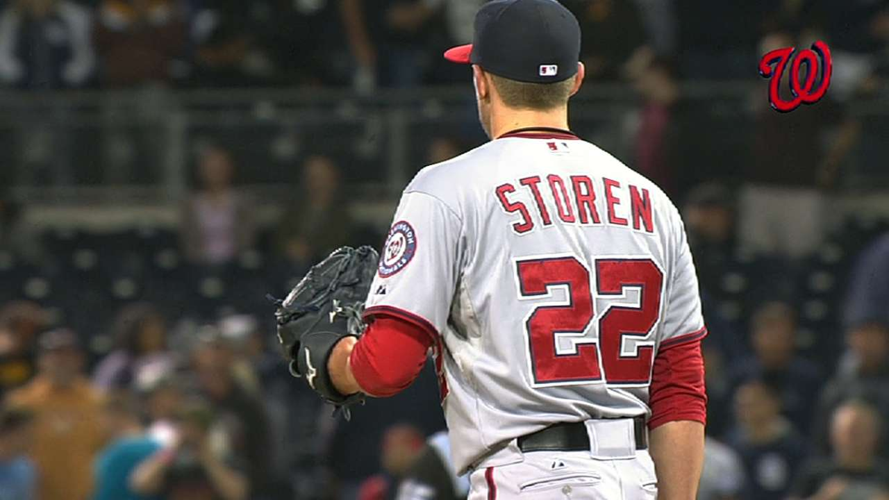 Storen settles in after shaky start to debut