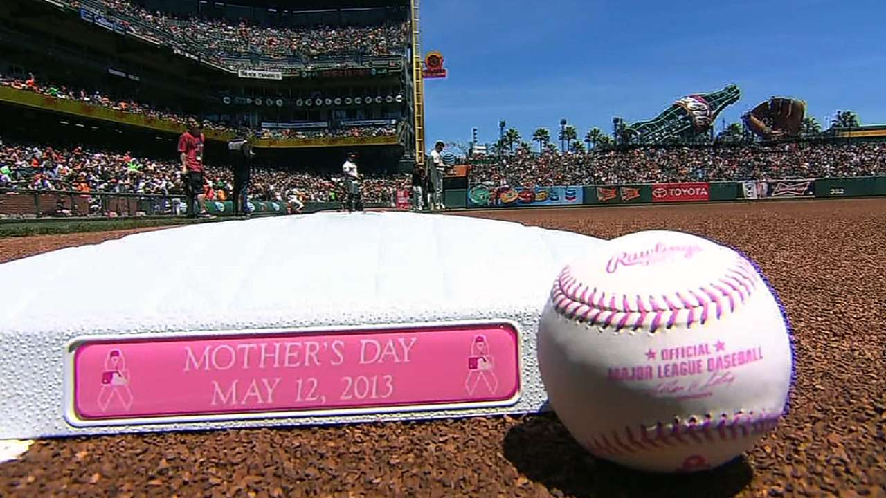 Players love swinging pink for Mom in fight vs. cancer