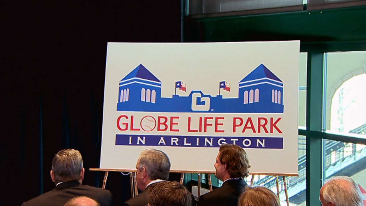 Rangers rename home Globe Life Park in Arlington