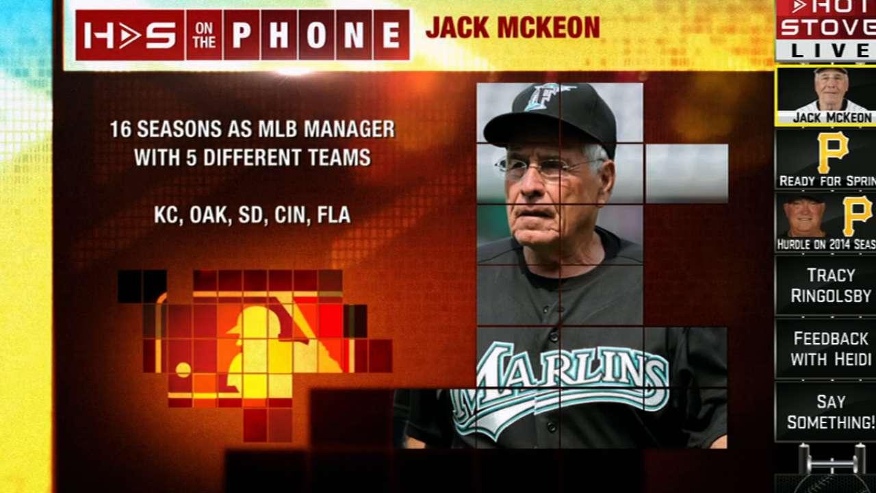 Jack McKeon calls into Hot Stove