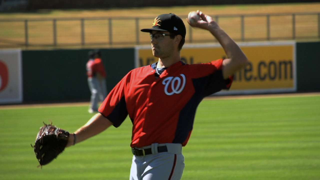 Purke working on his story in Nationals' system