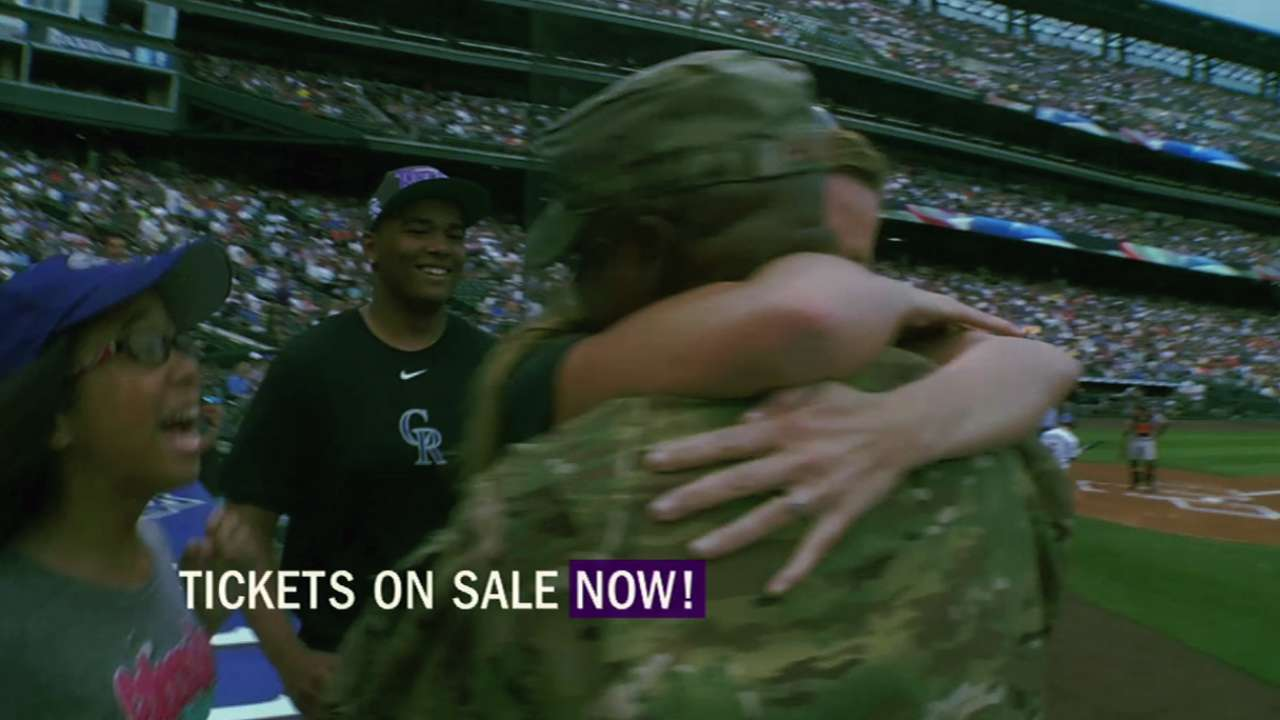 Rockies single-game tickets go on sale