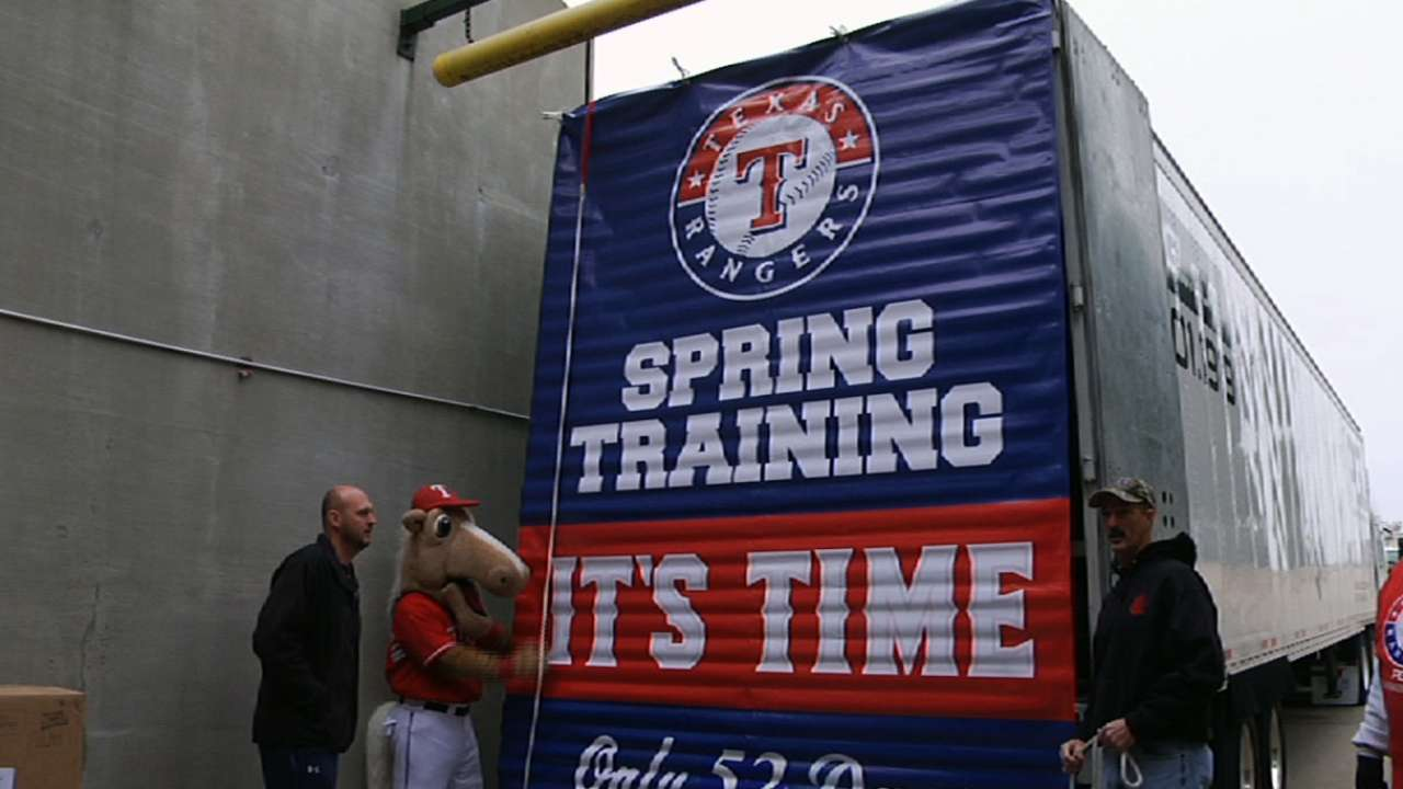 Spring Training truck escapes winter weather