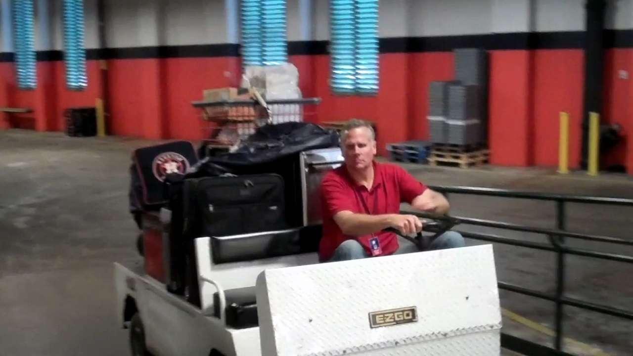 Astros pack truck full of gear for trek to Florida