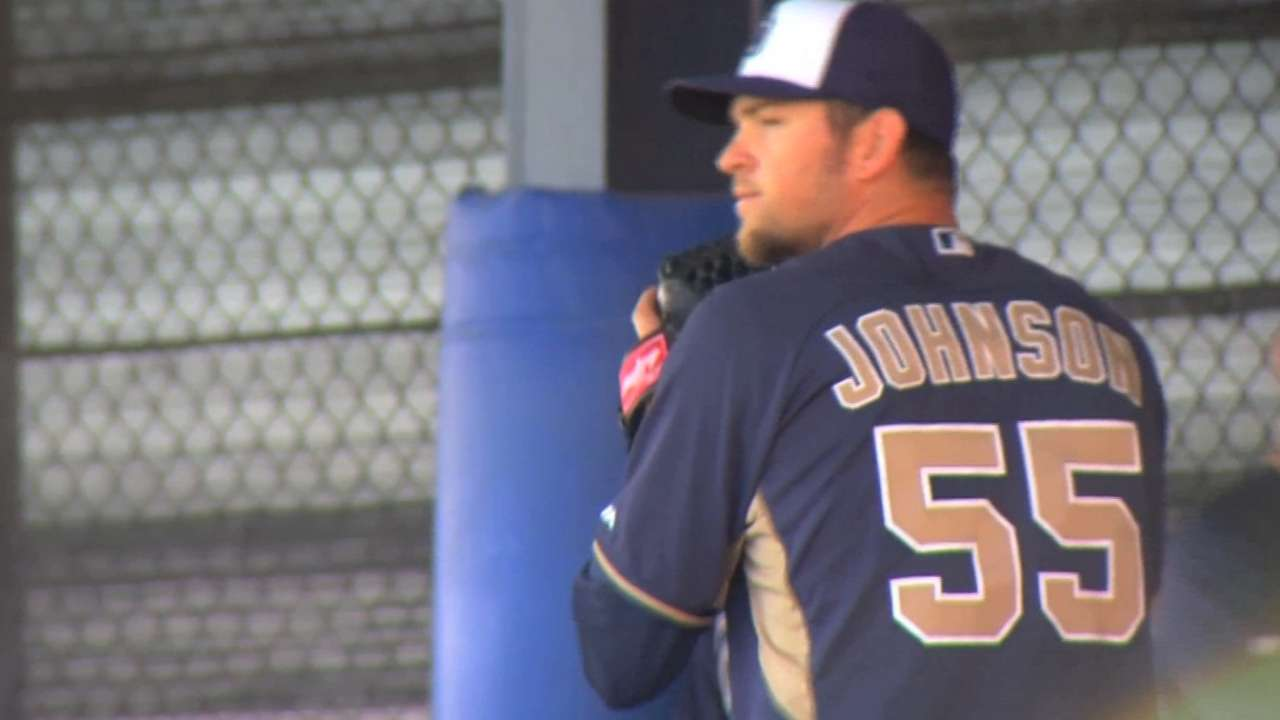 Johnson pleased with first Padres spring start