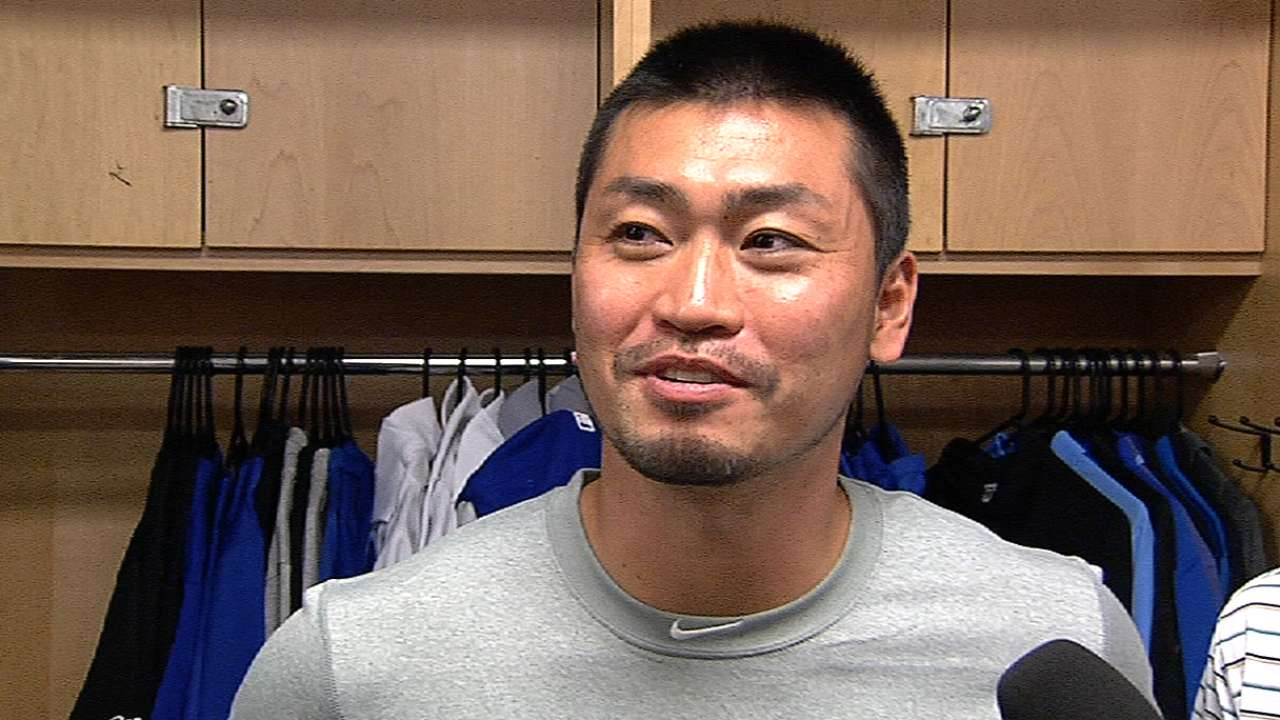 Aoki reports early to familiarize himself with new club
