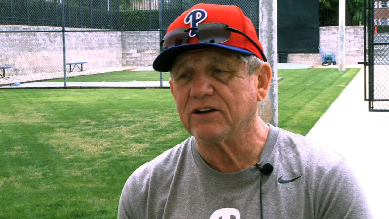 Bowa feels at home as Phillies' bench coach