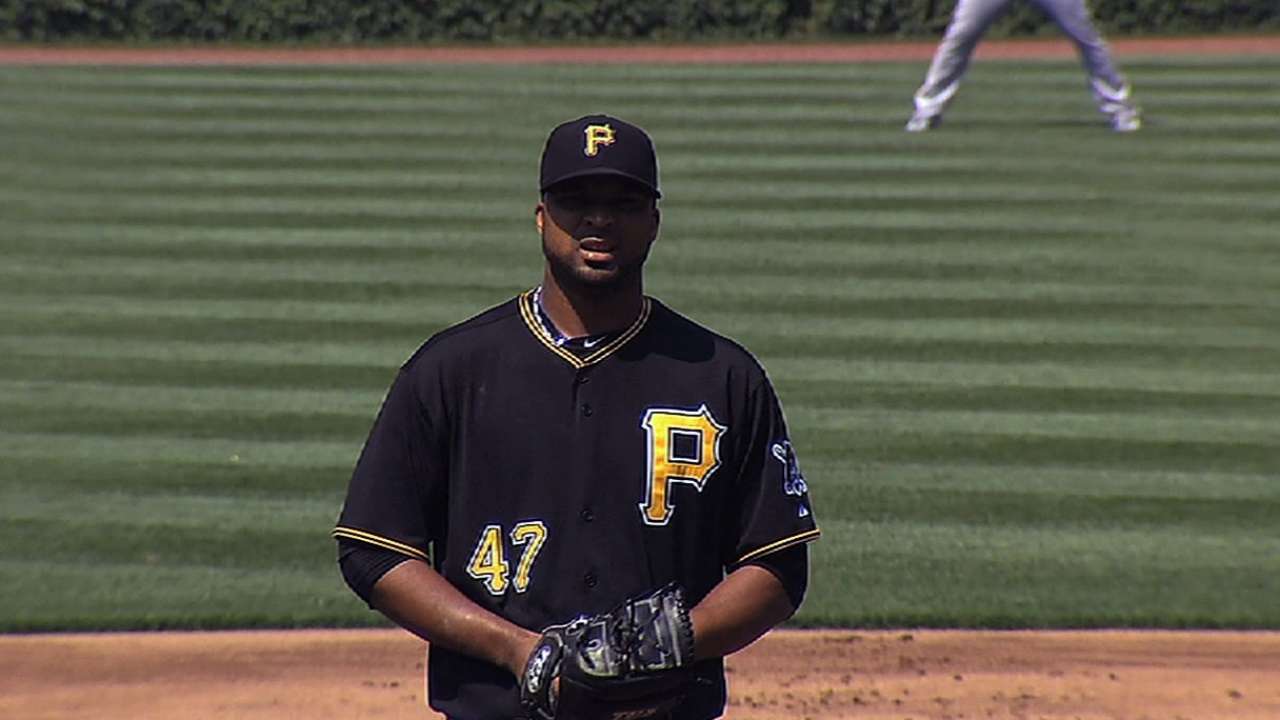 After delayed start, Liriano settles in