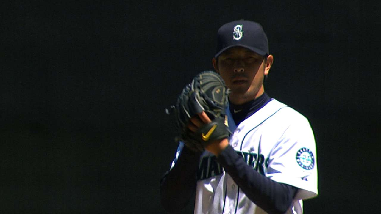 Iwakuma out three more weeks as injured finger heals