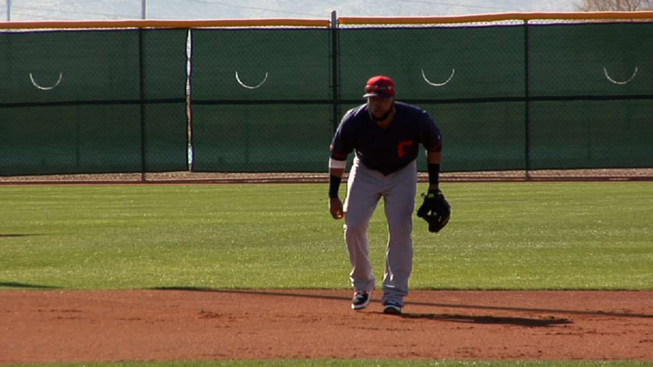Santana getting comfortable at third