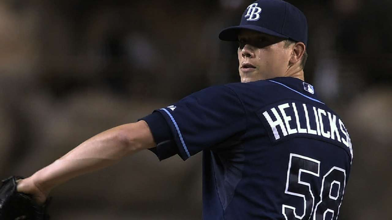 Hellickson positive following throwing session