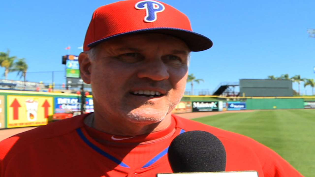 Sandberg giving Phillies plenty of work in camp