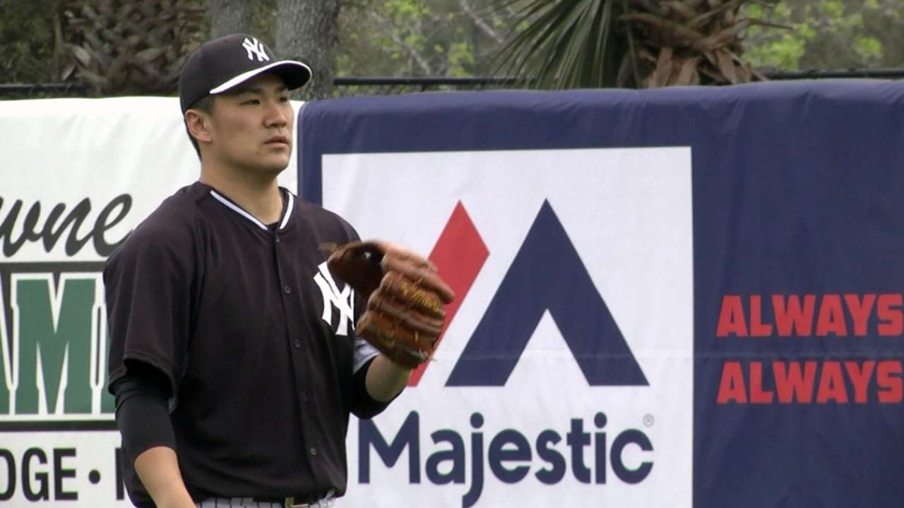 Tanaka puts on dazzling show for Yanks in sim game