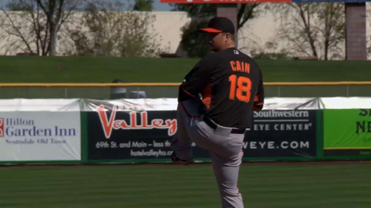 Cain gets work despite start getting rained out