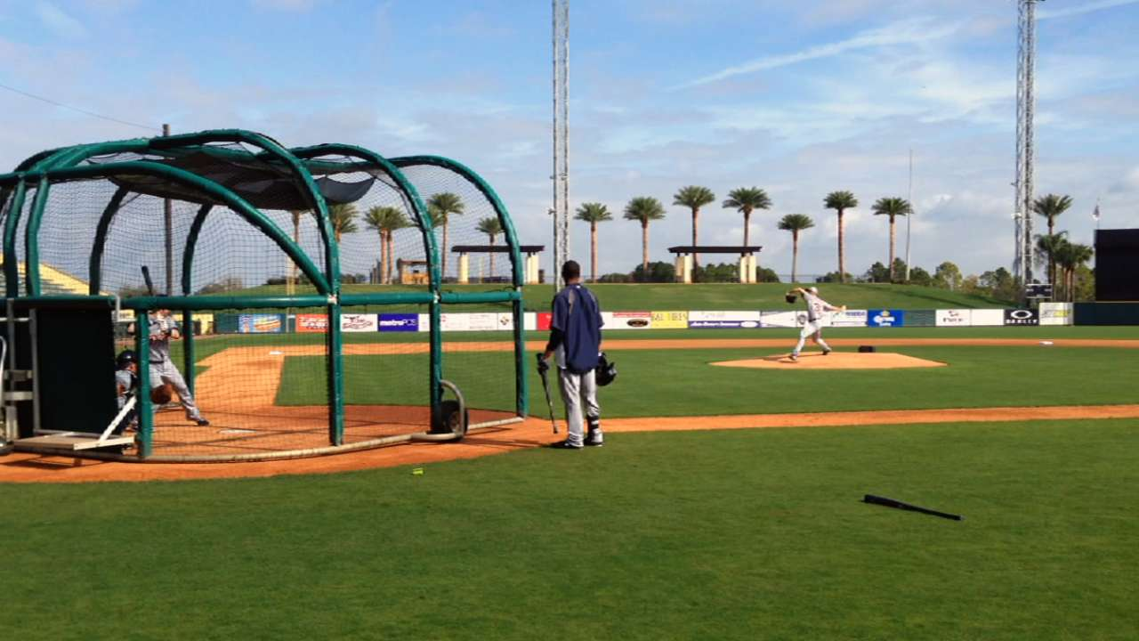 Verlander's expectations high after first live BP